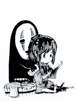 Inktober2018 Day23: MUDDY (Spirited Away fanart)