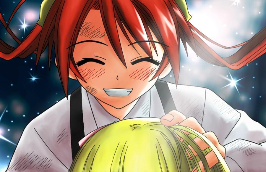 Negima: Asuna y Eva by makiri