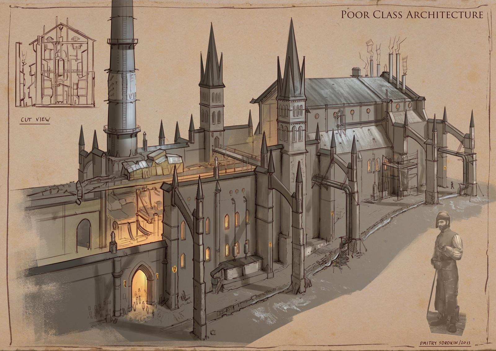 La Revolution. 1625. Poor Class Architecture by dsorokin755