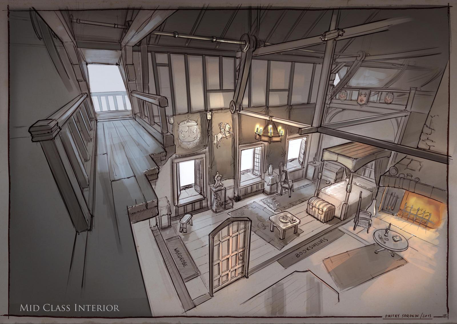La Revolution. 1625. Mid Class Interior by dsorokin755