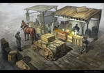Fruit Merchant. Fruit stall
