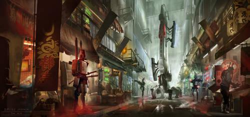Cyberpunk. Market Patrol by dsorokin755