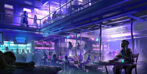 Cyberpunk. Night Club by dsorokin755