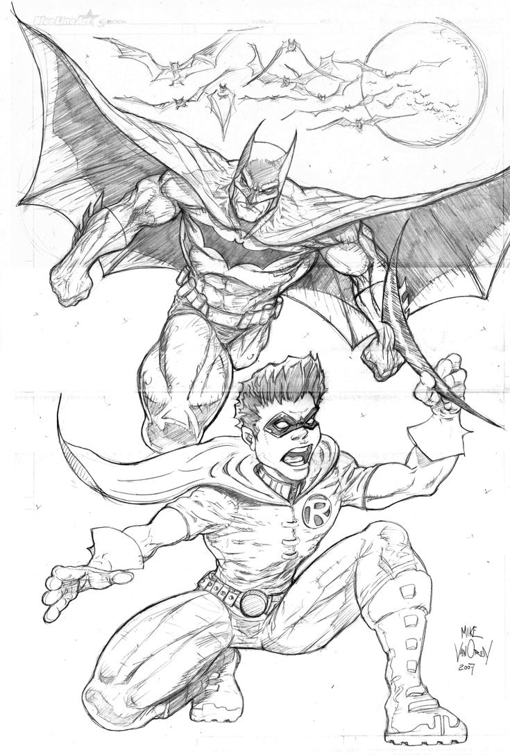 coloring pages batman and robin - batman and robin by mikevanorden on deviantart
