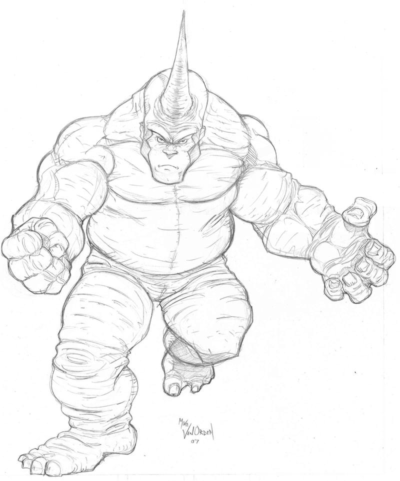 rhino coloring page - rhino sketch for jam by mikevanorden on deviantart
