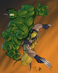 Hulk VS Wolverine Colored