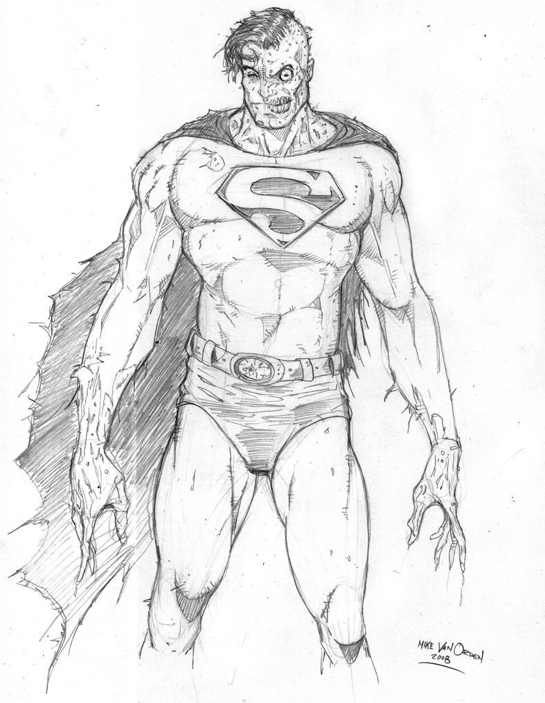 Zombie Superman by Mik...