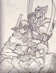 the 3 Amigos - Deadpool - Spiderman - Wolverine