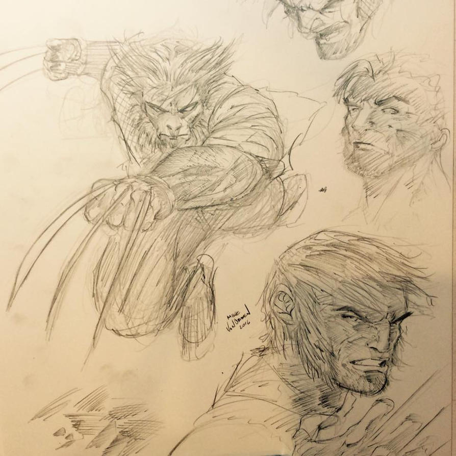 Wolverine Sketches by MikeVanOrden