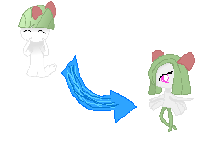 Rose evolved into Kirlia! by rockythebunny13