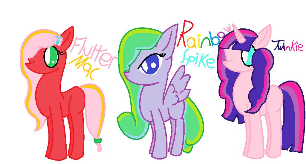 Pony adopts by rockythebunny13