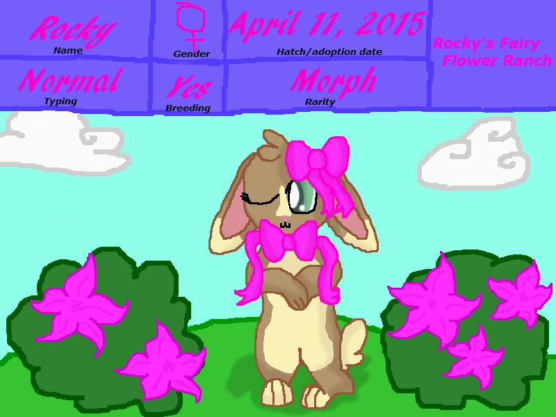 Rocky's Fairy Flower Ranch Rocky by rockythebunny13