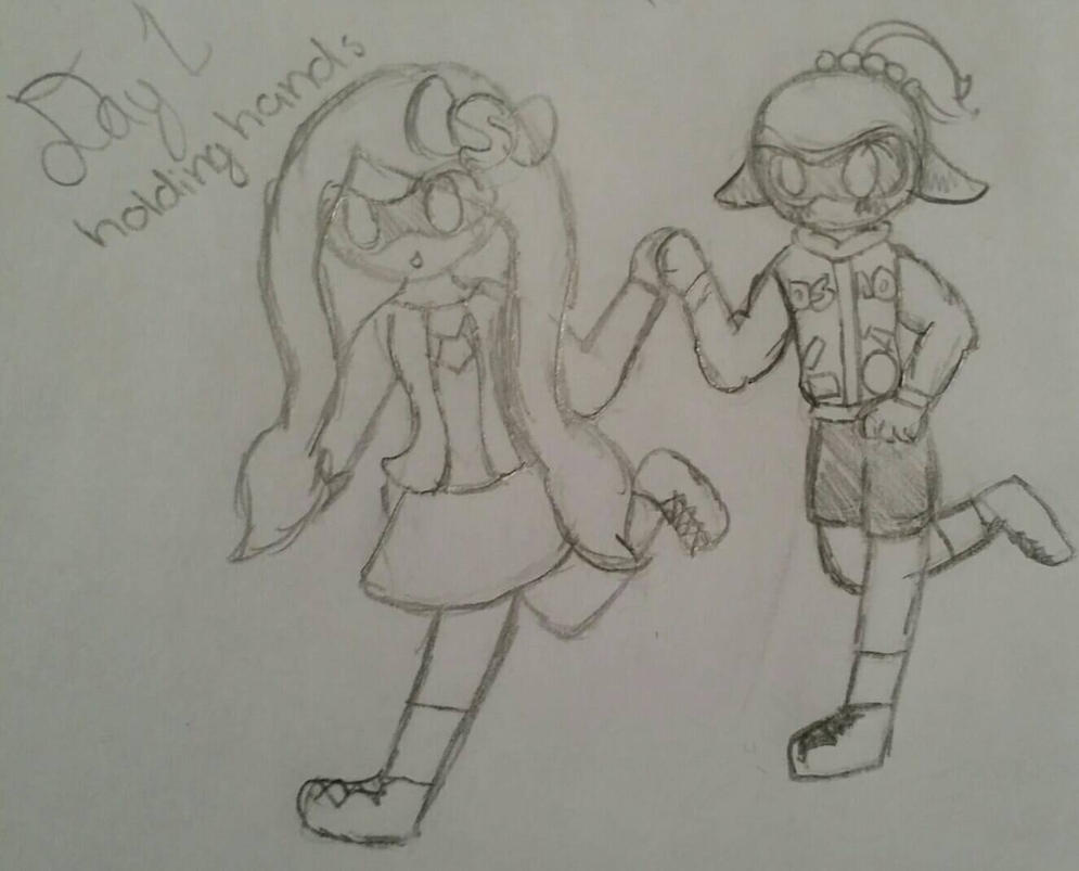 OTP Challenge Day 1 - Holding Hands by rockythebunny13