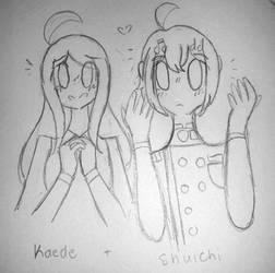 Danganronpa ~ Kaede + Shuichi  by rockythebunny13