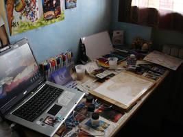 My workspace by Kiarona91
