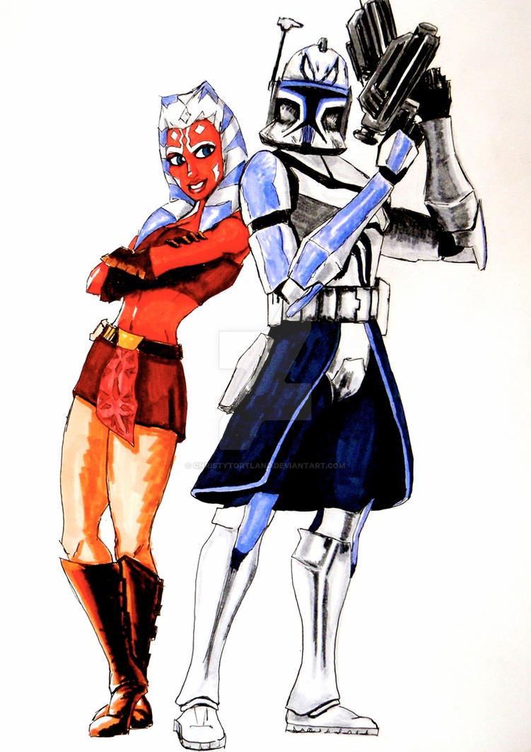 captain rex and ahsoka tano by christytortland on deviantart