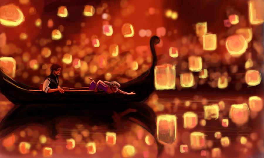 Tangled - Rapunzel and Flynn by ChristyTortland