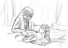 Philip and Syrena sketch