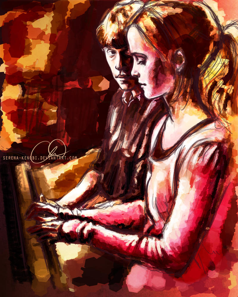 Hermione and Ron - The Piano by ChristyTortland