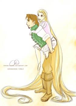 Tangled - Rapunzel and Eugene
