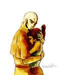 Aang and Korra by ChristyTortland