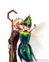 Jack Frost and Tooth Fairy by ChristyTortland