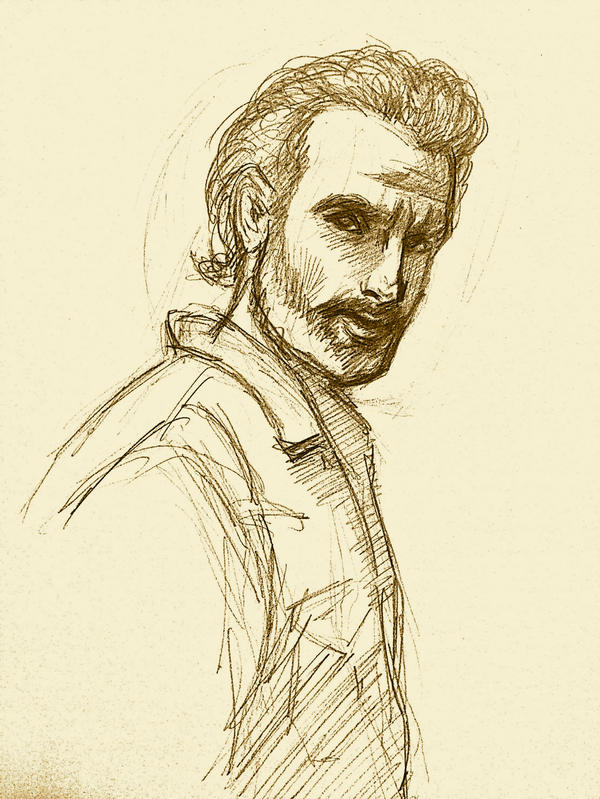 Rick Grimes sketch by ChristyTortland