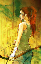 Lara Croft Cover Art