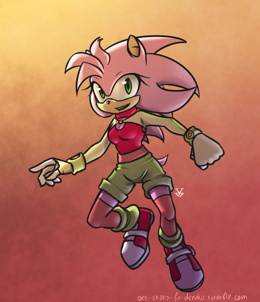 Aurora the Hedgehog by Deroko
