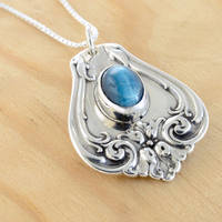 Spoon Pendant with Apatite by metalsmitten