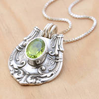 'Nother Peridot Spoon Pendant by metalsmitten