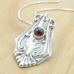 Spoon Pendant with Rhodolite Garnet