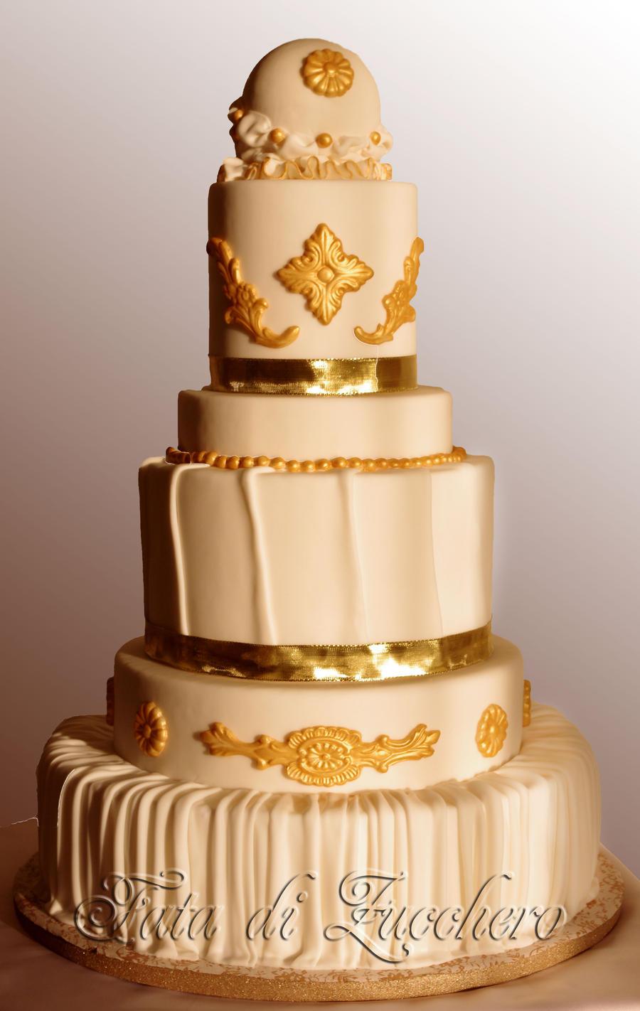 Baroque wedding cake by Dyda81
