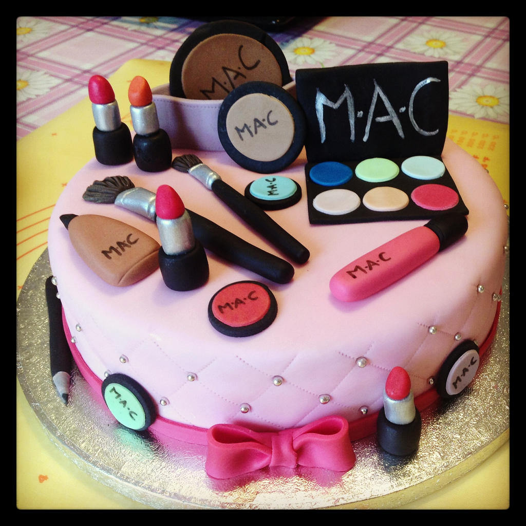 Makeup Birthday Cake Toppers