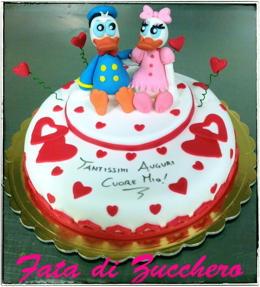 Donald And Daisy Duck Cake By Dyda81 On Deviantart