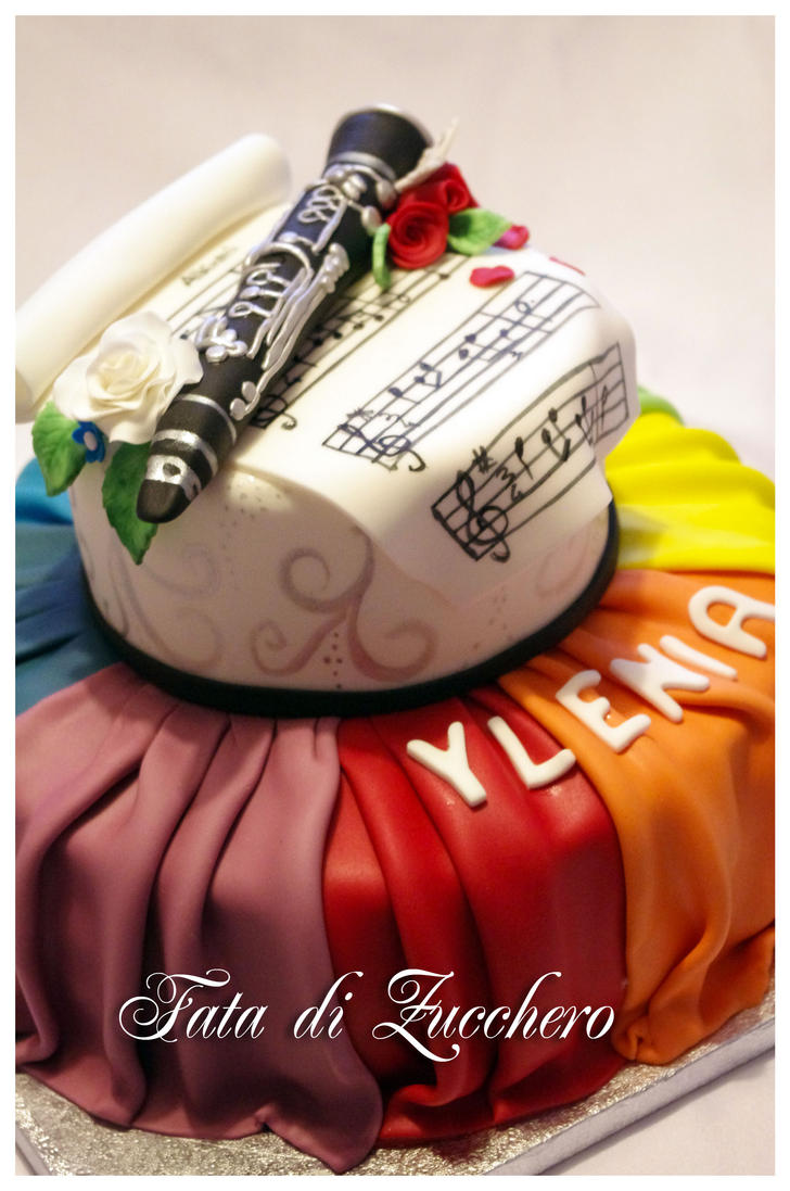 Clarinet cake by Dyda81