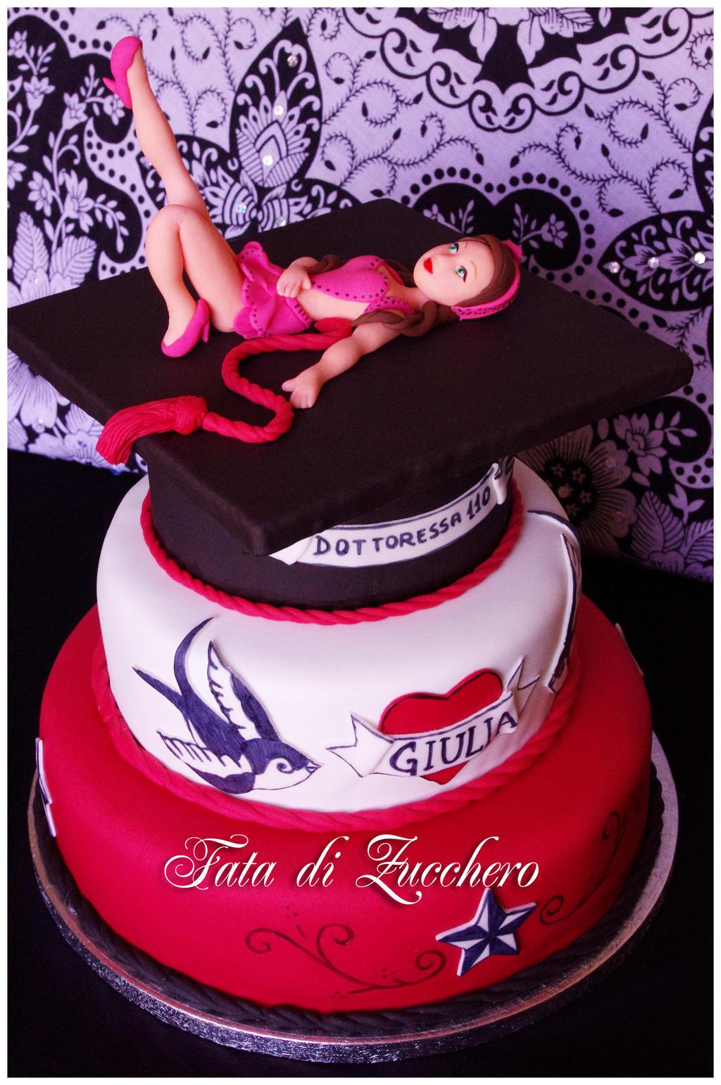 Rockabilly Graduation Cake  By Dyda On DeviantArt - Rockabilly birthday cake