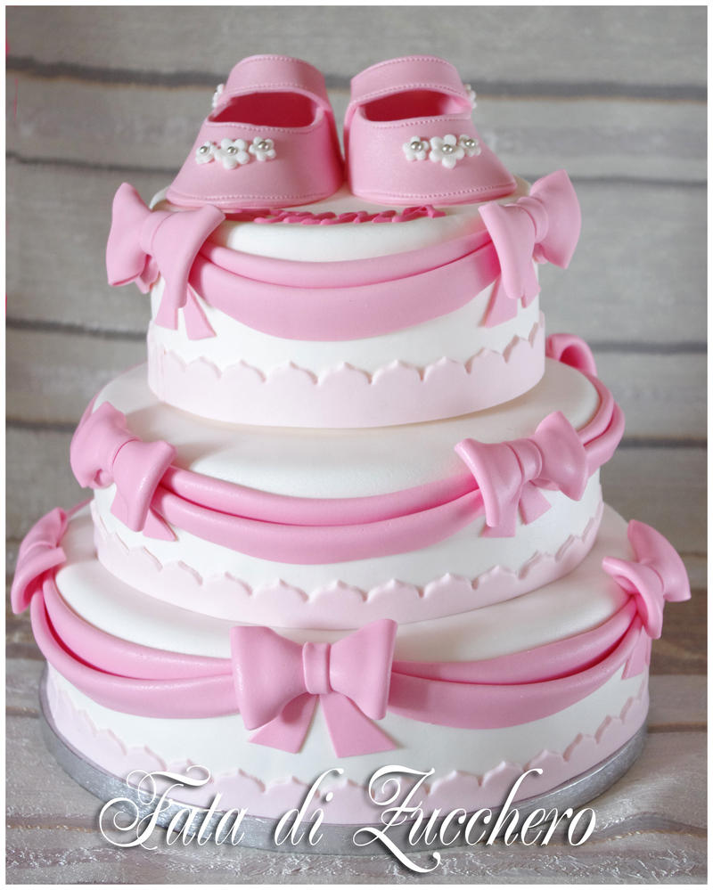 Christening cake by Dyda81