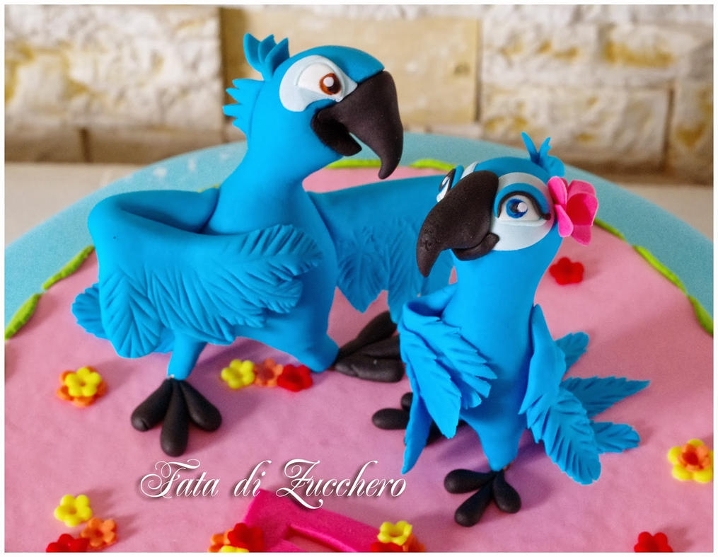 Blue Bird Wedding Cake Toppers
