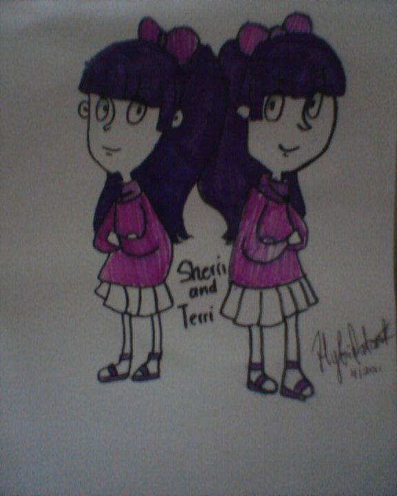 Sherri and Terri - The Simpson by hybridatomsk