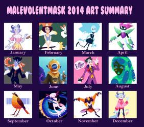 Art Summary 2014 by MalevolentMask