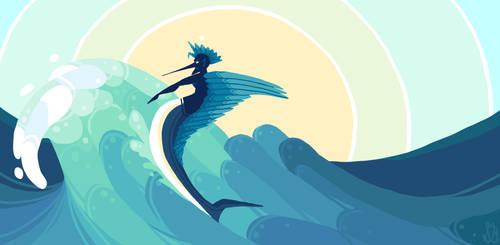Ridin' the waves by MalevolentMask