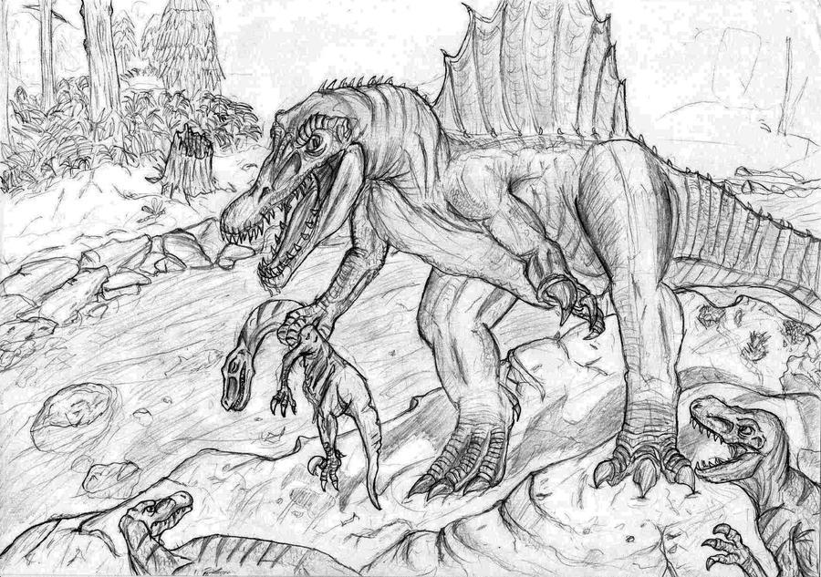 how to draw a deinonychus