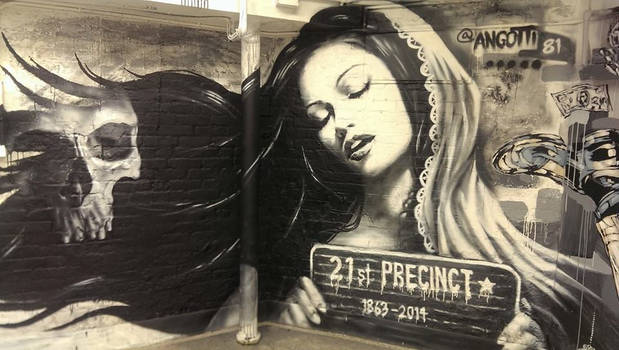 Freehand 21st precinct mural NYC