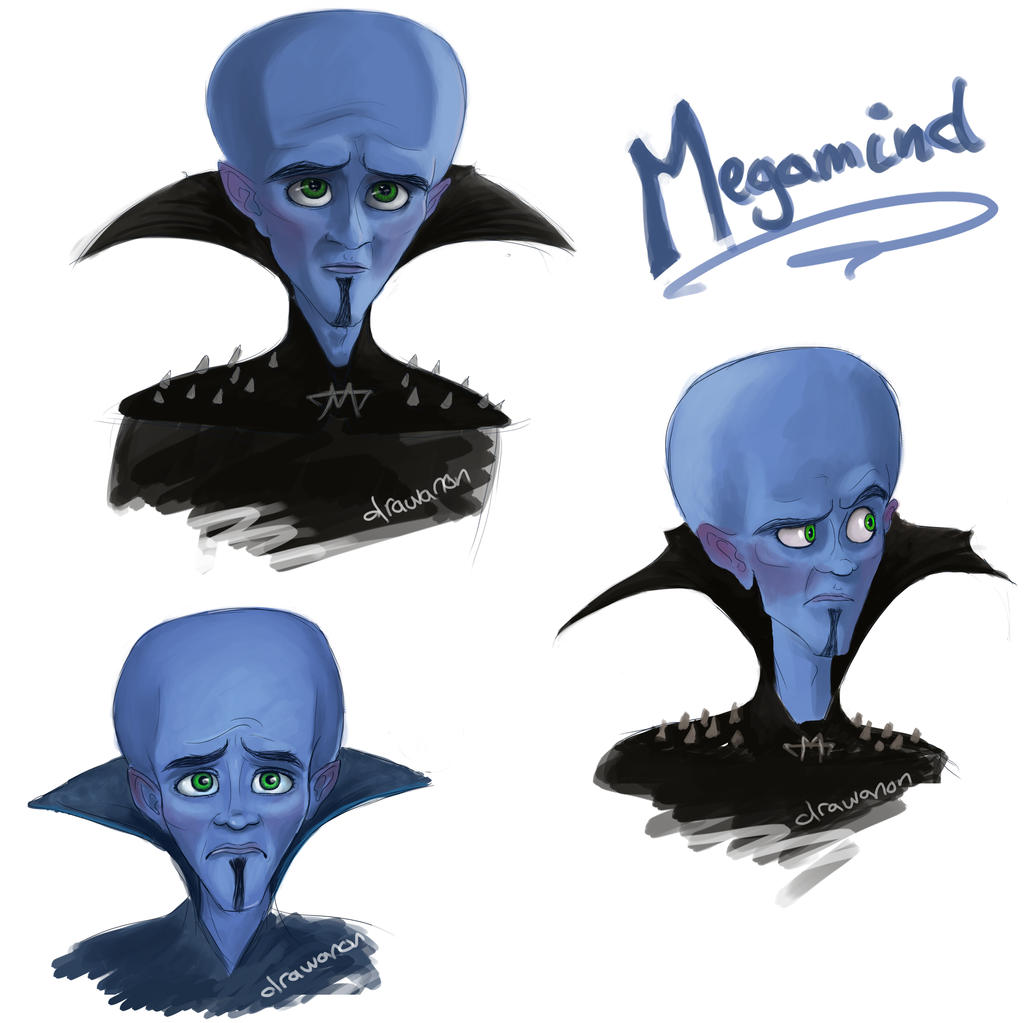 Megamind Sketch dump by drawanon on DeviantArt