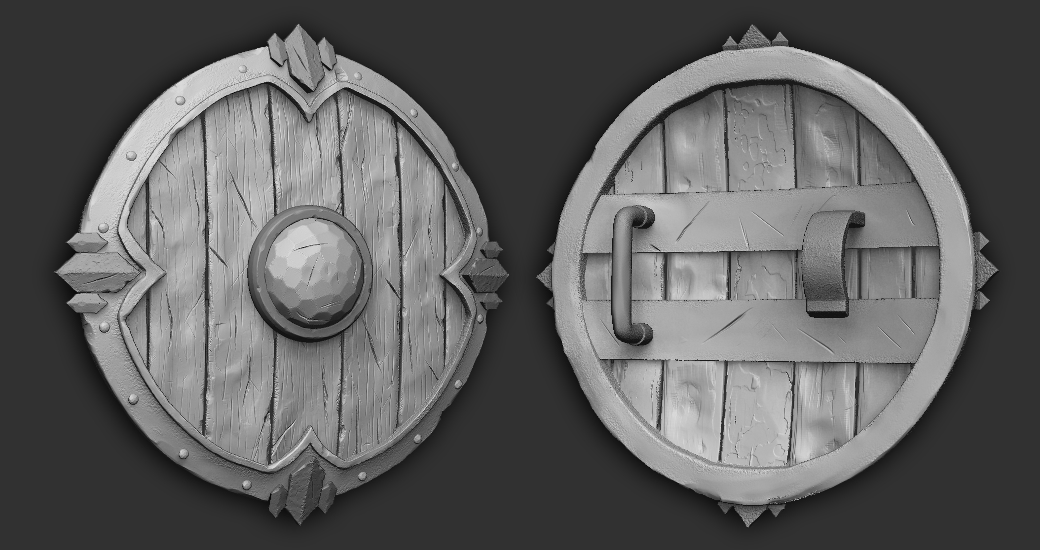 Battle Shield - Polycount Noob Challenge by Vasilesco