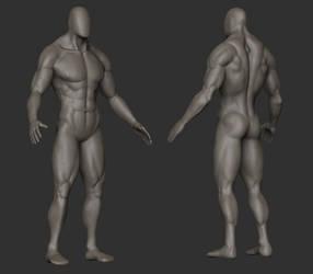 Zbrush Practice - Anatomy - Full Body by Vasilesco