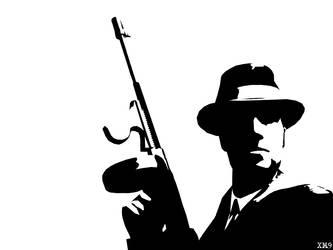 Mafia Man Stencil by Six-Hundred
