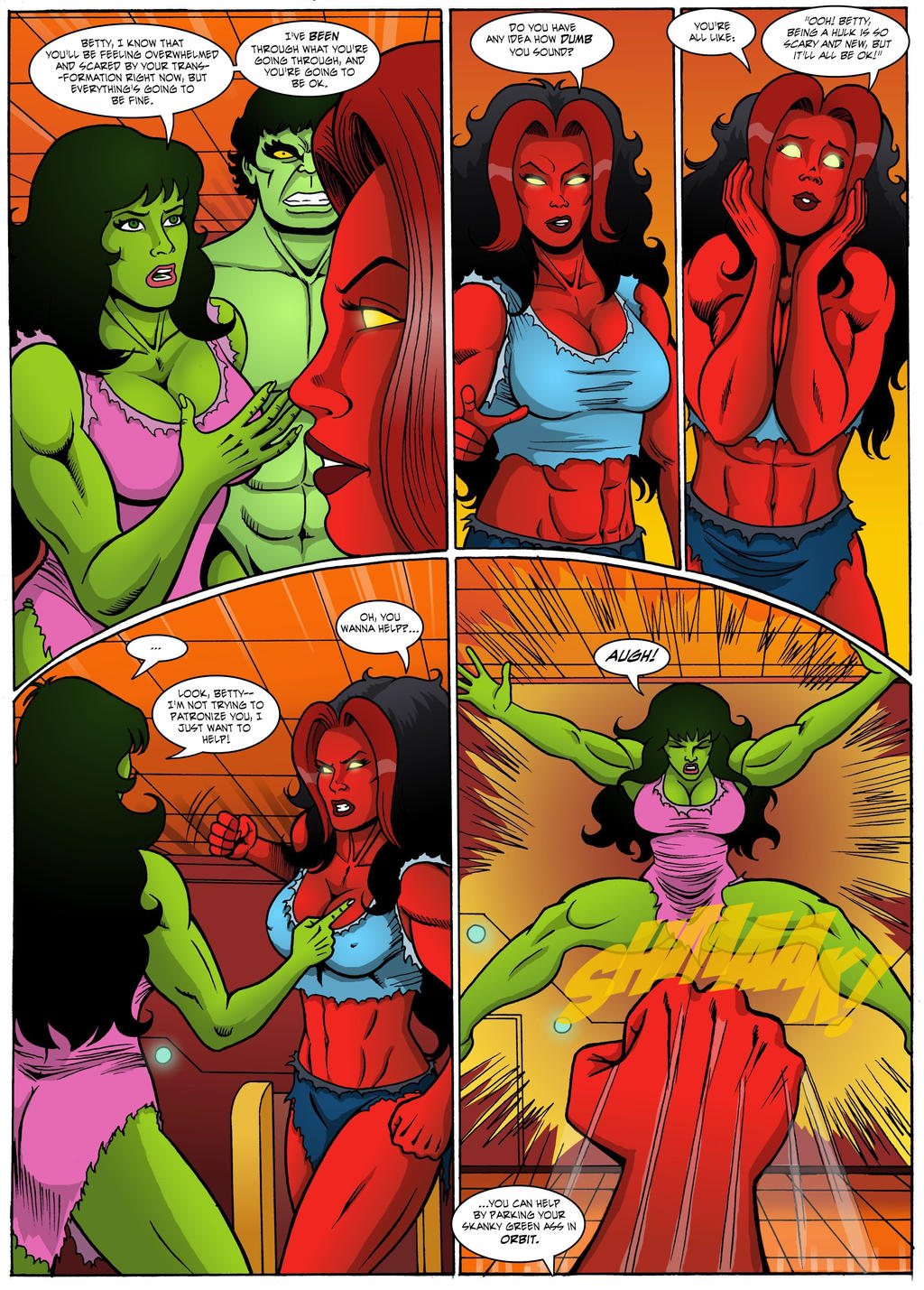 The Incredible Hulk: Red Alert Page 23 by MikeMcelwee on DeviantArt