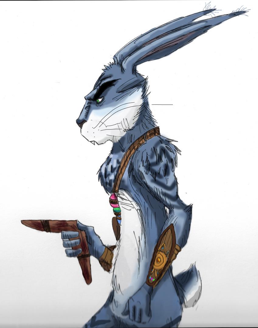 E. Aster Bunnymund by WulfFather